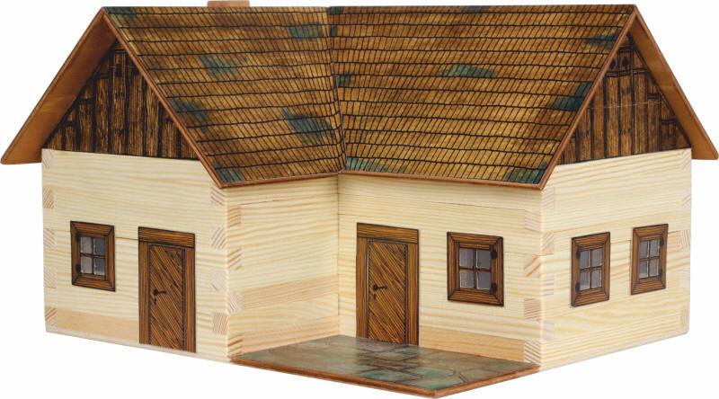 Lesena sestavljanka - hiška